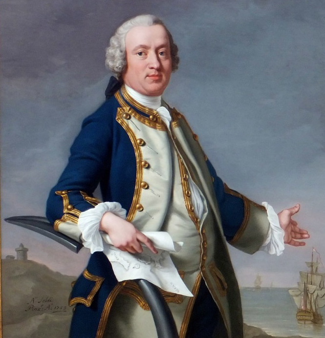 Andrea Soldi-Portrait-of-a-Naval-Officer-The-Hon-Thomas-Craven Full length