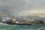 Julius Hintz - Dover - Steamer in focus
