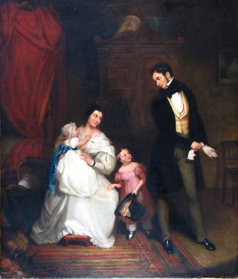 Robert William Buss - Portrait of the Hardie family in an interior