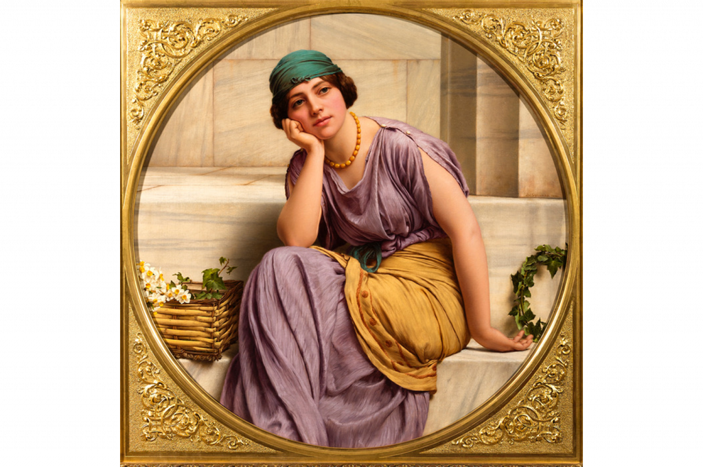 John William Godward - Flower Seller